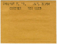 Shulman M. Dr. : Coroner [NOT USED]