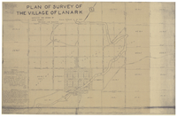 Plan of survey of the village of Lanark