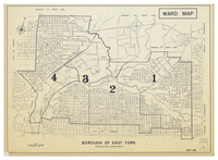 Borough of East York : ward map