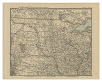 Vereinigte Staaten Von Nord-Amerika In 6 Blattern, Bl. 2. [Dominion of Canada (southwest), Dakota, Nebraska, Iowa, Minnesota Wisconsin]