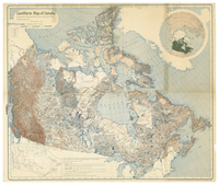 Landform map of Canada