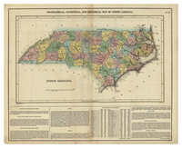 Geographic, statistical, and historical map of North Carolina