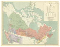Canada showing location of Indian bands with linguistic affiliations, 1965