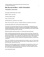 May Day and the Moon (transcription)