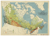 Map of the Dominion of Canada exclusive of northern regions, indicating main natural resources [1937]