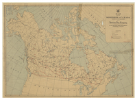 Map of the Dominion of Canada showing the establishments of the Hudson's Bay Company, incorporated 2nd May 1670 [1941]