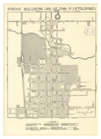Schedule no 2 existing land use town of Exeter, Ontario.