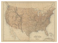 General map of the United States