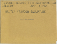 Jerrold Morris International Gallery : Walter Yarwood sculpture