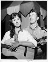 Portrait of Ian and Sylvia at Mariposa Folk Festival, 1961