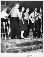 The Travellers performing at the Mariposa Folk Festival, 1961