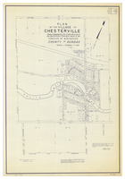 Plan of the Village of Chesterville : being composed of Lots 17 and 18 in con IV and parts of Lots 17 and 18 in con III in the Township of Winchester, County of Dundas.