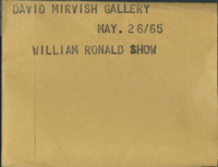 David Mirvish Gallery : William Ronald show