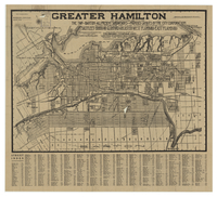 Greater Hamilton comprising the Twp of Barton, all present subdivisions and proposed layouts by the City Corporation and parts of the Townships of Saltfleet, Binbrook, Glanford, Ancaster, West Flamboro, East Flamboro