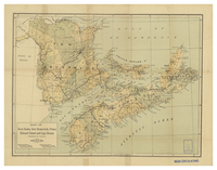 Map of Nova Scotia, New Brunswick, Prince Edward Island and Cape Breton (Dominion of Canada) 1900