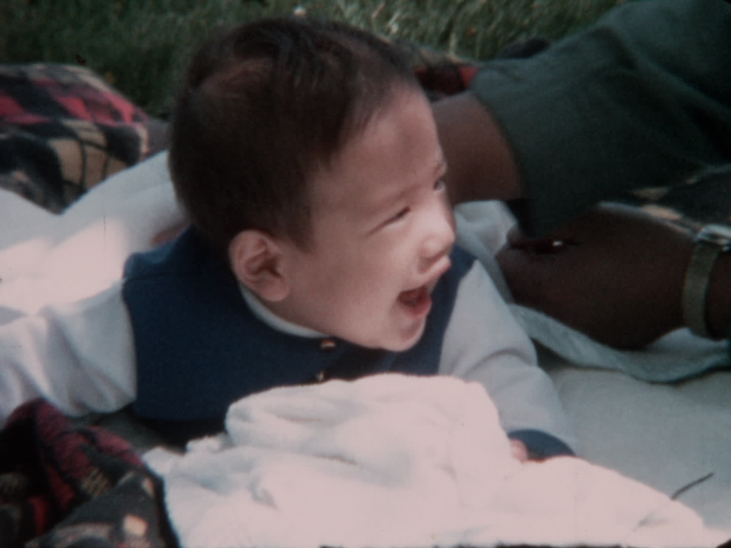 Watada family videos : baby outside smiling