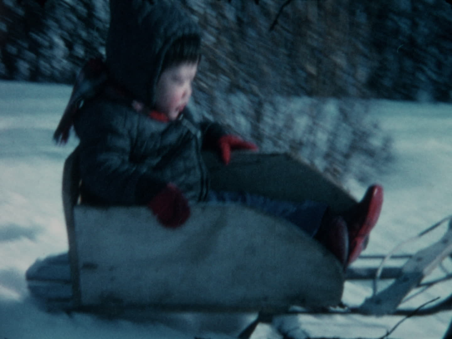 Watada family videos : boy in a sled