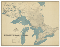 Map No. 42a showing townships in the Province of Ontario