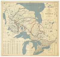 The Province of Ontario, Canada [showing watersheds northern Ontario]