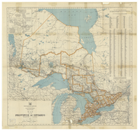 Map of the Province of Ontario, Dominion of Canada [1932]