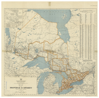 Map of the Province of Ontario, Dominion of Canada [1944]
