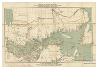 Map of the province of Québec [shows timber reserves licenses]