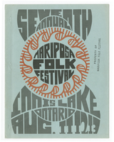 Mariposa Folk Festival 1967 program