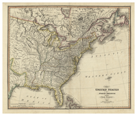 The United States of North America: with the British Territories. Published by James Wyld. April 1st, 1824.