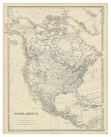 North America by Keith Johnston [c1861]