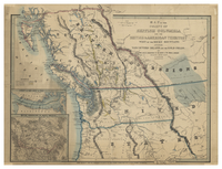 Map of the Colony of British Columbia and the British & American Territory West of the Rocky Mountains including Vancouvers Island and the Gold Fields by James Wyld, Geographer to the Queen & The Prince Consort. September, 1859.