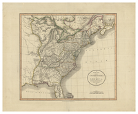 A New Map of the United States of America from the Latest Authorities, by John Cary, Engraver. 1806.