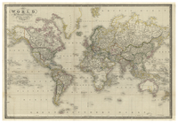 The World on Mercator's Projection by James Wyld, geographer to the Queen. 1843.