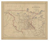 Territory of Minnesota by Prof. H.D. Rogers & A. Keith Johnston. 1857.