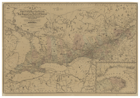 Map of the Province of Canada from Lake Superior to the Gulf of St. Lawrence corrected from information obtained by the Geological Survey under the Direction of Sir W.B. Logan and prepared for the Canadian Directory. Thos. C. Keefer