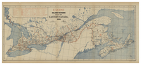 Excise Inland revenue map of Eastern Canada, 1884
