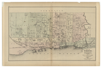 City of Toronto, reduced by permission from Wadsworth & Unwin's Large Map for Tackabury's Atlas of the Dominion published by G.N. Tackabury, Montreal, 1875.