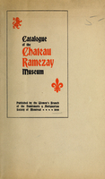 Catalogue of the Château Ramezay museum