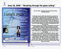 "Timeline: Greek Community of Toronto 1909-2009 Women's Issues 1994-2009 : June 18, 2006 - ""breaking through the glass ceiling"""