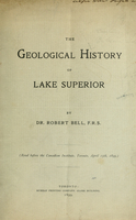 The geological history of Lake Superior