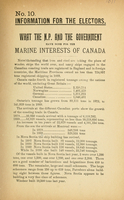 What the N.P. and the government have done for the marine interests of Canada