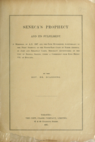 Seneca's prophecy and its fulfilment : a memorial of A.D. 1897 and the four hundredth anniversary of the first sighting of...