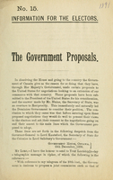 Government proposals