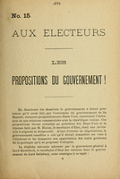 Les propositions du gouvernment