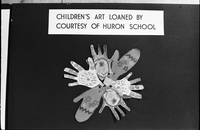 Huron Street School : Children's Art at Boys and Girls House, Library [not used]