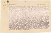 Letter to James Sully from VW 1 January 1908