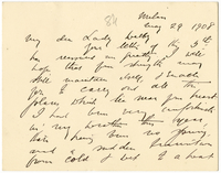 Letter to VW from James Sully 29 May 1908