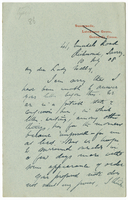Letter to VW from James Sully 10 July 1908