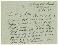Letter to VW from James Sully 9 December 1908
