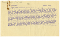 Letter to James Sully from VW 2 March 1909
