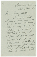 Letter to VW from James Sully 20 June 1909